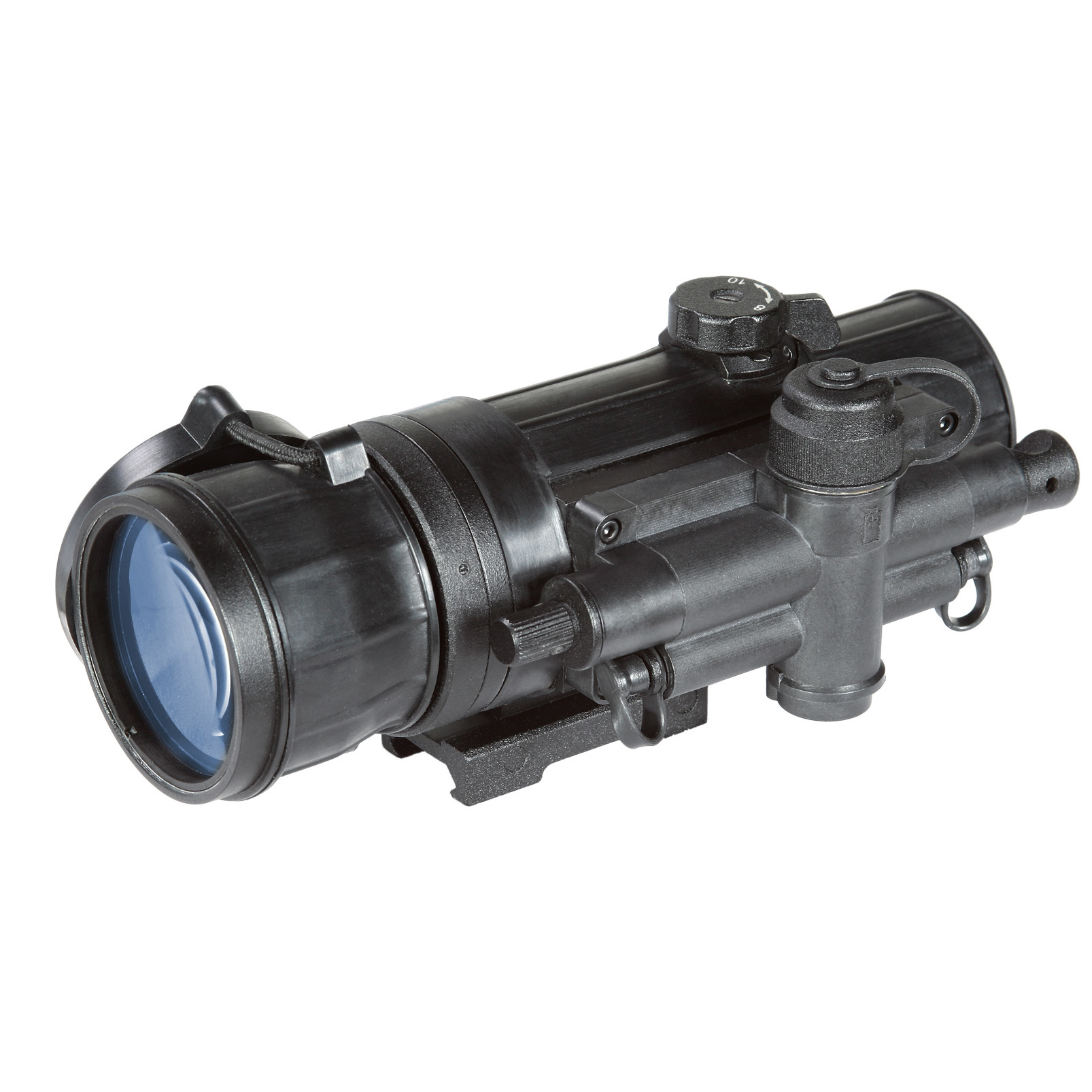 "Armasight CO-MR Gen 2+ ID MG Night Vision Clip-on System. As one of the most-advanced Night Vision systems commercially available, this Armasight CO-MR Gen 2+ ID MG Night Vision Clip-On System boasts incredible clarity, versatility and toughness whether you're part of the local police force, or simply looking to eliminate varmints from your property. No more switching optical enhancements once day turns to night... here, the Clip-On System attaches securely to the front of your existing scope! No more fussing with calibration and adjustments when you switch from one to the other, either! A detachable infrared illuminator brightens your view, and in case of a flashlight blast or other unexpected intensity change in ambient light, the bright light cut-off system protects the image intensifying tube from harm.Features:1X magnification Mounts in front of any daytime scope, no re-zeroing required Detachable long range IR illuminator Bright light cut-off system protects the image intensifying tube from harm Variable gain control Low battery indicator Includes wireless remote control Quick-release mount for easy mounting Mil-standard compliant Runs on 1 CR123A battery (included) or 1 AA battery (not included) Includes lens cap, battery adapter, light suppressor, lens tissue, carrying case, and Picatinny adapter Measures 3.2 x 3.2 x 7.1""l. Weighs 1.5 lbs Specifications:IIT generation: Gen 2+ ID MG Resolution: 47-54 lp / mm Exit pupil diameter: 21mm Lens system: F1: 1.2, 80mm 12.6 degrees F.O.V. Range of focus: 10 to infinity Controls: direct Battery life: 60 hours (CR123A) or 30 hours (AA) Environmental rating: Waterproof Operating temperature: -40 degrees to 122 degrees F. - $1,979.99"