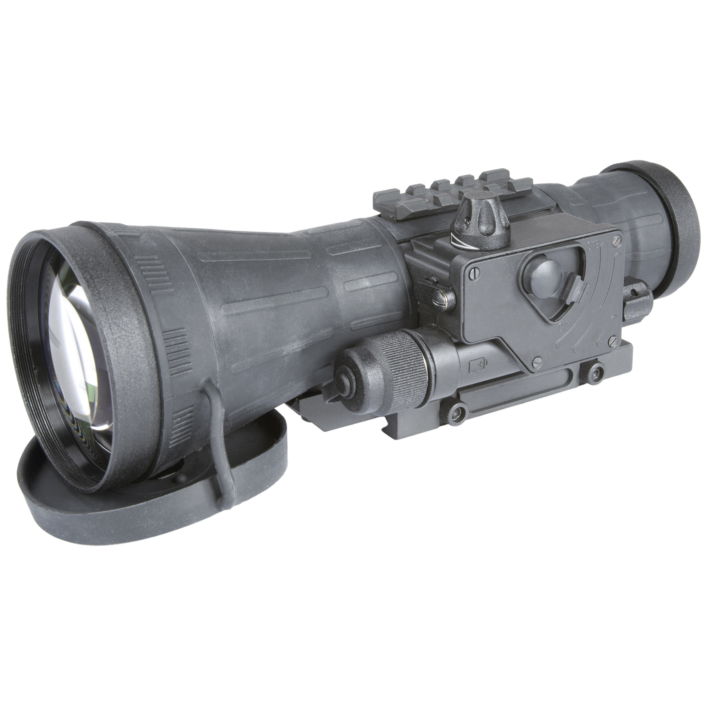 "Armasight CO-LR Gen 3P MG Night Vision Clip-on System. Designed for use with most commercial and mil-spec daytime scopes, telescopes or binoculars (up to 12X magnification), this CO-LR Gen 3P MG can be mounted / dismounted on a standard Picatinny rail in seconds... no tools required! It's mounted in front of your own day scope, so your eye relief is not altered. Plus, your shot release and follow through all remain intuitive. It's also factory bore-sighted to better than 1 MOA accuracy, so no alteration in zero is experienced. Packed with innovative features... like manual gain control, a bright light cut-off system, and wireless remote control, the CO-LR Gen 3P MG Night Vision Clip-on System is designed to make quick, intuitive shooting just as easy at night as it is during the day.Features:1X magnification Mounts in front of your rifle scope with no zeroing required Manual gain control Detachable long-range IR illuminator Bright light cut-off system Quick-release mount Low battery indicator Includes wireless remote Mil-standard compliant Runs on 1 CR123A battery (included) or 1 AA battery (not included) Includes battery adapter, lens cap, light suppressor, Picatinny adapter, carrying case and lens tissue Measures 3.8 x 3.14 x 9.25""l. Weighs 2 lbs. Specifications:IIT generation: Gen 3 high-performance ITT pinnacle manual gain Resolution: 64-72 lp / mm Exit pupil diameter: 40mm Lens system: F1: 1.54, 108mm 10 degrees F.O.V. Range of focus: 10 to infinity Controls: direct Battery life: 40 hours (CR123A) or 25 hours (AA) Environmental rating: waterproof Operating temperature: -40 degrees to 120 degrees F. Storage temperature: -40 degrees to 120 degrees F. - $4,819.99"