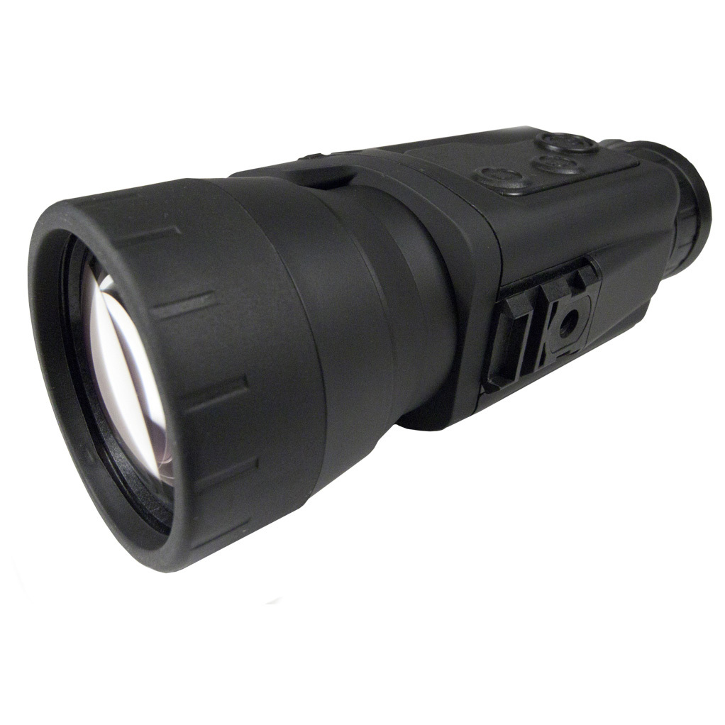 "Pulsar Recon 750 Digital Night Vision Monocular. The Recon 750 features high light gathering capacity combined with large magnification, ensuring one of the best viewing distances among budget-minded NV devices The built-in IR illuminator permits the device to operate in complete darkness. Video out feed allows recording without use of cameras and camera adapters Also included is a specially-designed mount combining a Weaver rail and standard 1/ 4"" tripod socket for mounting accessories Features: Great image quality and resolution Resistant to bright light exposure SumLight signal processing program Built-in, high-powered laser IR illuminator Built-in recording with playback Weaver rail for accessories Video output Lightweight and durable housing Easy-to-use interface Includes carrying case, wrist strap, video came, tripod adapter, and lens cloth Specs: 4X magnification 50mm lens diameter 500 lens focus Relative aperture (d/f1): 1:1 5.5 degrees horizontal F.O.V. Minimum focusing distance: 3m 12mm eye relief 45mm exit pupil Diopter adjustment: 5 Focusing type of distance: objective Resolution (lines per minute): 40 IR wavelength: 780nm Range of detection: 350 m Runs on 4 AA batteries (not included) Battery life: 12 hours (without IR) / 9 hours (with IR) Tripod mount: 1/4"" IPX6 waterproof rating Type of CCD array (EIA): Sony ICX-254AL Camera resolution: 510 x 492 pixels Display resolution: 320 x 240 pixels Measures 3.2 x 2.4 x 6.9""l. Weighs 14 ozs. - $499.99"
