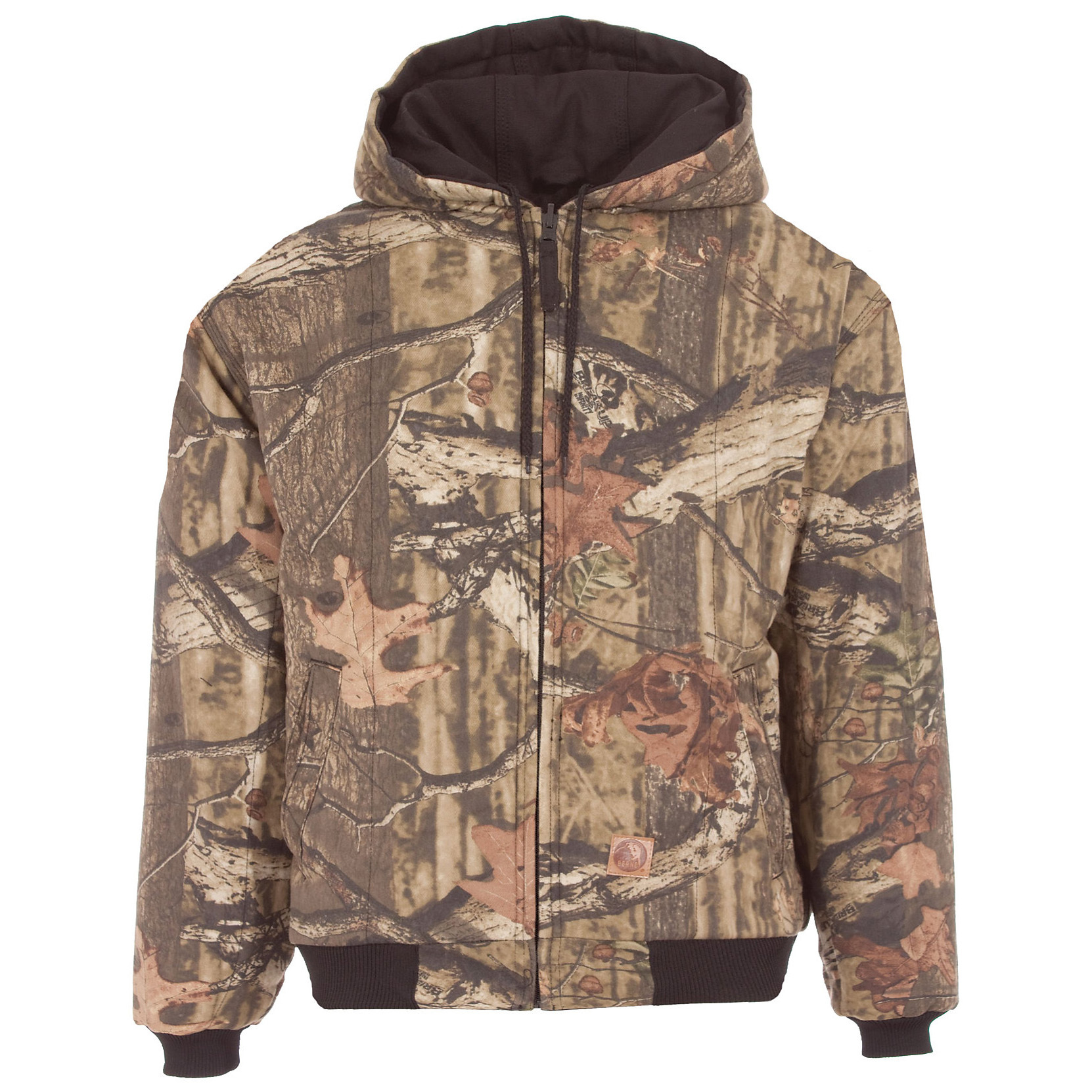Berne Deerslayer Quilt-lined Camo Hunting Jacket. Into the woods with the best in warm, quiet comfort! Effective camo, triple needle stitching, and heavyweight insulation come together with Berne know-how and value! The 100% heavyweight cotton shell stays super-quiet and stands up to hard use like a champ.Same Berne excellence, same Berne low price:Outer shell: 100% heavyweight cotton with water-repellent finish Body insulation: Heavyweight insulation quilted to 100% polyester Sleeve insulation: Midweight insulation quilted to smooth 100% polyester taffeta Triple needle-stitched main seams for added toughness Knit cuffs and waistband Pleated elbows and pleated bi-swing back for easy movement Oversized pockets. Imported. State Color and Size, as available in the Shopping Cart. - $64.99