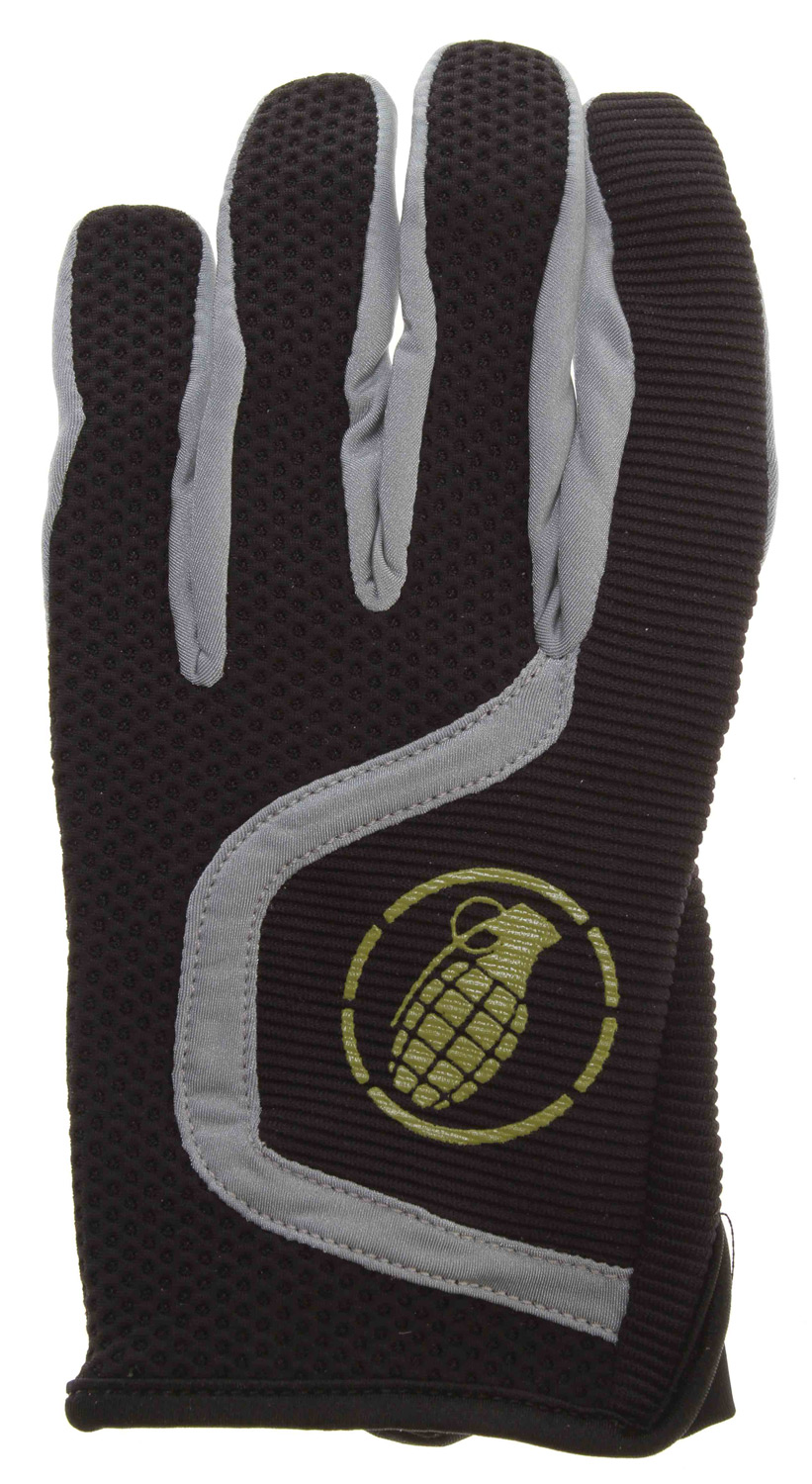 MTB Grenade Flyer Bike Gloves Black/Lime - $10.37