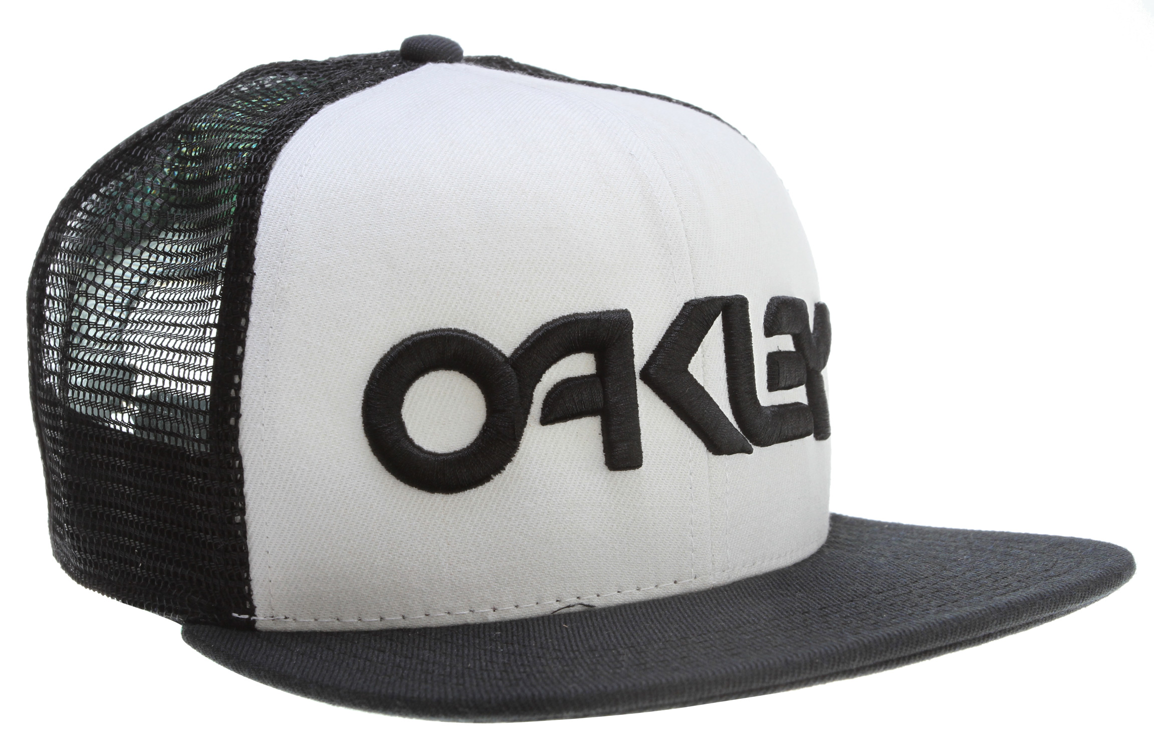 Fresh out the factory is the equally as fresh Oakley Factory Trucker Cap. Oakley is a heavyweight in the game and that same reputation for quality can be observed in the classic 3D embroidered logo featured on this trucker hat. Trucker design provides a partial mesh which results in comfortable and cool ventilation. Adjustable fit for all sizes big, small, and in between.Key Features of the Oakley Factory Trucker Cap: Adjustable fit Subtly contoured brim Structured polyester mesh 3D logo embroidery on crown - $25.00