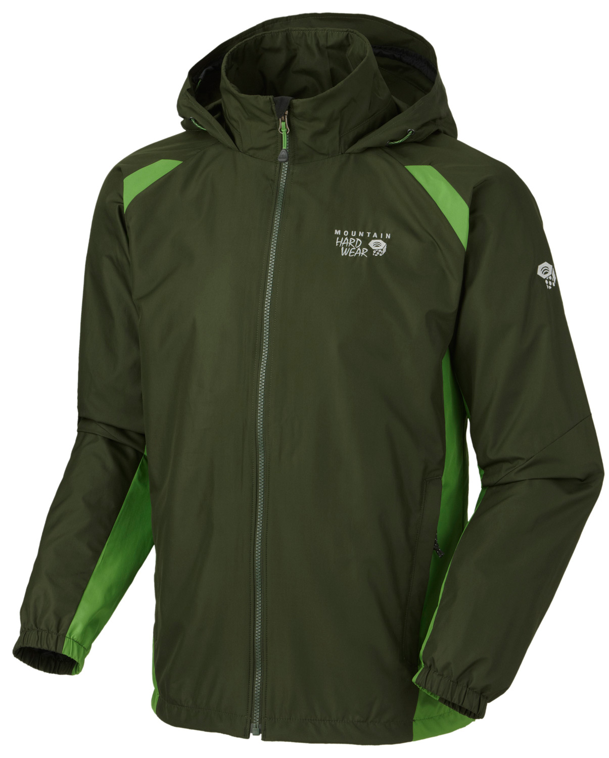 A lightweight, windproof jacket for backcountry, and everyday useKey Features of the Mountain Hardwear Windrush Jacket: Attached, adjustable roll-away hood Single hem drawcord for quick fit adjustment Full elastic cuffs slide easily over layers to seal in warmth Two mesh lined hand pockets - $51.95