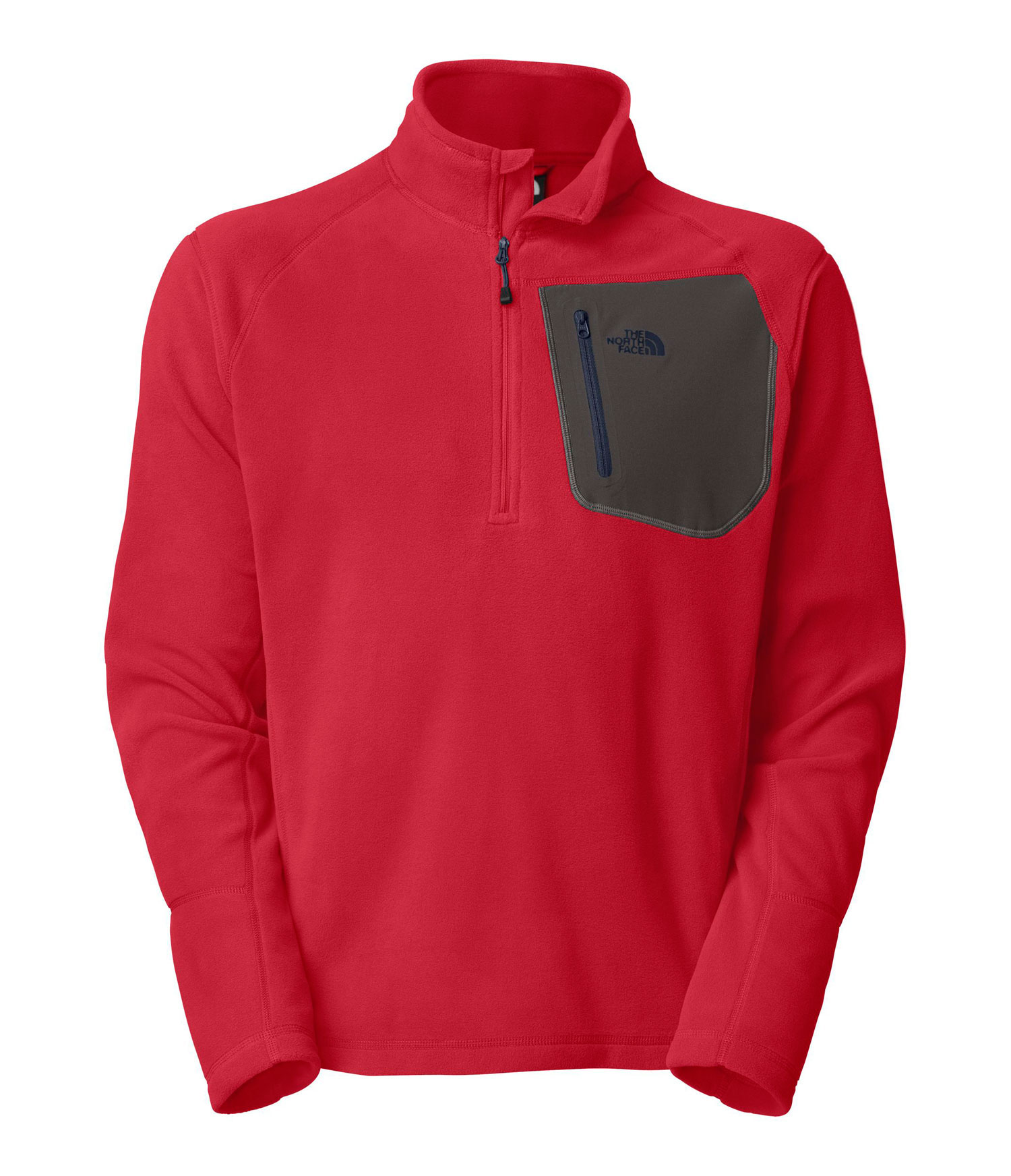 "A breathable, quick-drying midweight zip-neck constructed with Polartec fleece ideal for layering. Key Features of The North Face Tka 100 Trinity Alps 1/4 Zip Jacket: Fabric: 160 g/m (4.64 oz/yd ) 100% polyester Center Back: 27.5"" Midweight layering piece Ultraviolet Protection Factor (UPF) ??? Secure Napoleon zip pocket Flat-locked stitching for strength and reduced abrasion Reverse-coil zips for finished look - $48.95"