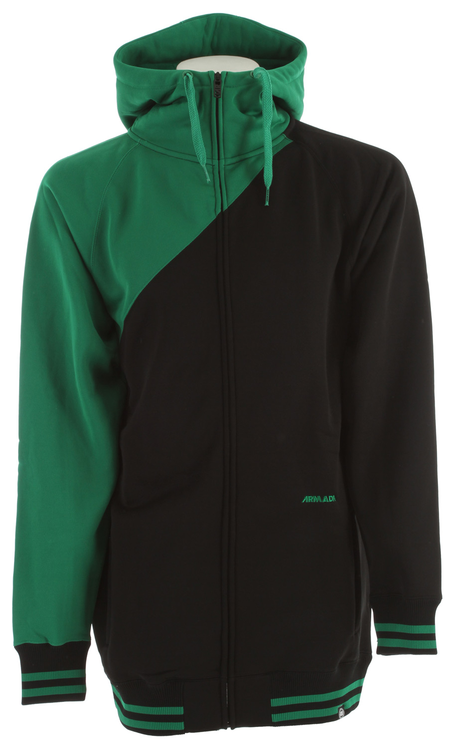 Ski Key Features of the Armada Topo Hoodie: Full Zip Adjustable Hood Hand-warmer Pockets with Zippers Long Fit - $79.99