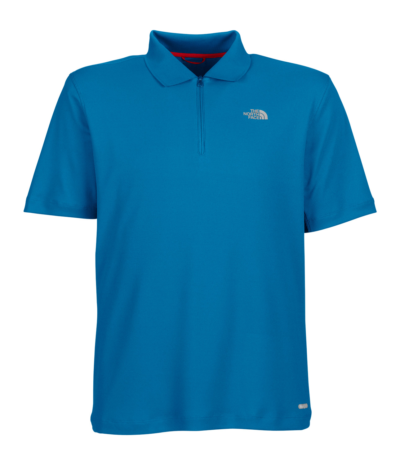 Key Features of The North Face Logo Polo Polo Shirt: Coolmax fabric pulls moisture away from skin keeping you dry UPF 30 sun protection Reverse-coil quarter zip Underarm gussets improve mobility The North Face logo on left chest Quick-drying - $34.95