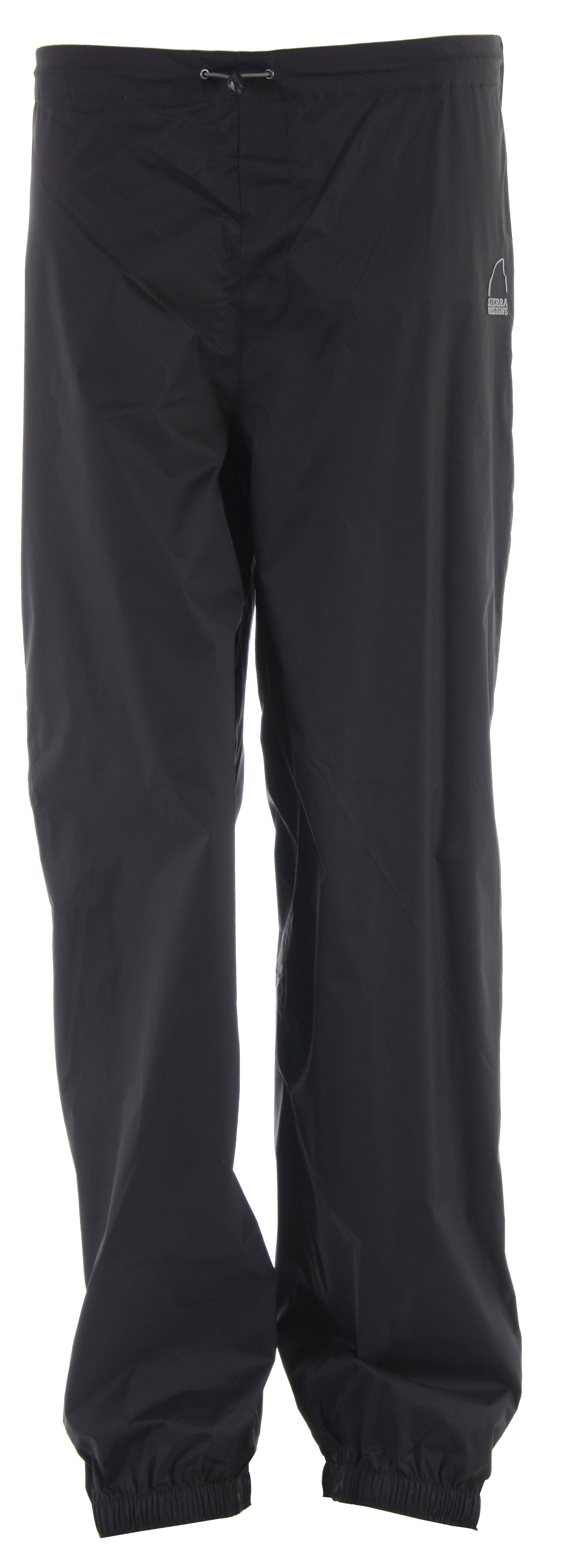 "There are lots of hiking pants you could wear, but Sierra Designs Cyclone Pants for women are the only pair you need. Designed to give you the most protection so you can get the most out of your hikes, these pants are waterproof and breathable, come with an adjustable waist, and feature internal leg gaiters. Once you try on a pair you'll wonder how you ever hiked without them. Key Features of the Sierra Designs Cyclone Rain Pants:  10,000mm Waterproof  8,000g Breathability  Fully Taped PVC-Free Seams  Thigh Pocket with Waterproof Zippers  Fly Front  Full 2-Way Side Zip  Lower Leg Hook & Loop Adjustment  Wrap Around Scuff Guard  Internal Leg Gaiter  Inseam Length 31"" (L   Materials: Green 2.5L (10,000/8,000  Recycled Polyester; Textured Double Ripstop; Solvent-Free Laminate; 3.59 oz/yd; (122 g/sqm - $33.95"