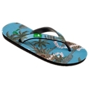 Sanuk Kona Men's Sandals have a laid-back beach attitude that's perfect whether you're on the sand or the sidewalk. The soft rubber strap and foot bed are covered with a Hawaiian fabric print of palm trees and flower leis. These men's flip-flops feature a Happy U rubber outsole for extra grip when the surf comes in. Sanuk Kona Sandals have a slim profile and are great for casual beach and poolside wear. Imported.Manufacturer style #: SMS10052.Soft, rubber strap with textile inlay. Vintage aloha print textile foot bed. Flip-flop style sandals Slim profile for effortless all-day wear Happy U sponge rubber outsole for nonslip grip. Vegan and vegetarian footwear - $12.97