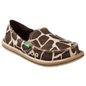 Bring the patterns of the jungle to your summertime wardrobe with Sanuk On the Prowl Sidewalk Surfers Slip-On Shoes for Ladies. These women's casual flats are cool and comfortable with a cotton/hemp upper, soft canvas lining, and yoga mat foot bed with jute inlay. The sponge rubber outsole has a stripe that coordinates with the animal print. Although the look is animal skin, Sanuk On the Prowl Sidewalk Surfers are all vegetarian. Imported. Manufacturer style #: SWF10096.Natural animal print hemp/cotton upper. Soft canvas lining. Side elastic inserts stretch and move with you. Yoga mat foot bed with jute inlay and EVA midsole Substantial rubber outsole for traction. Vegan and vegetarian materials - $64.99