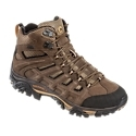 Enjoy stable support and comfort on the burliest of mountain adventures with the Moab Peak Ventilator Hiking Boots from Merrell. Giving you dry comfort over the long haul, the Moab Peak combines waterproof nubuck leather and mesh uppers with M-Select DRY technology to seal out water and wick moisture away from your feet. M-Select FRESH technology naturally prevents odor before it starts for fresh smelling feet. Under your feet, CMEVA molded footframes, exterior TPU shanks, and heel air cushions work together to absorb shocks and deliver stability over rough, uneven ground. The Moab Peak Ventilator also features a debris-fighting bellows tongue and rubber toe cap and heel counter for extra protection. Vibram Grade 4 hiking outsoles feature 5mm lugs to supports heavier loads over uneven terrain all the way to the top. Average weight per pair: 2 lbs. 8 oz. Imported.Manufacturer model #: J24291.Lightweight and versatile hiker for demanding outdoor adventures Waterproof nubuck leather and mesh uppers. M-Select DRY seals out water and wicks away moisture. M-Select FRESH technology for natural odor resistance. Exterior TPU arch shank for stability over uneven ground. Air cushion in heel absorbs shock and adds stability. CMEVA molded footframe for cushioning comfort. Grade 4 Vibram hiking outsole with 5mm lugs. Bellows tongue blocks debris. Rubber toe cap and heel counter - $159.99