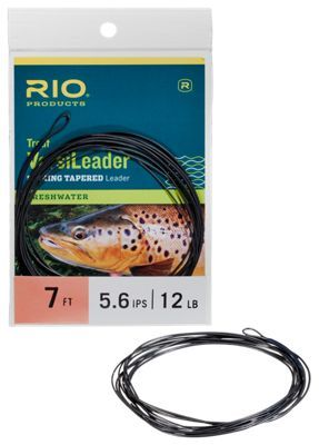 RIO's Freshwater Versi. Leaders have a strong nylon core in excess of 24 lb, and are tapered for the best in performance. They are ideal for the fly fisher who needs a quick-change option for converting a floating line to a sink tip. Each Versi. Leader features a neat, bullet-proof welded loop at the butt end for fast rigging.Slim, neat welded loop in the butt for quick rigging      Tapered for optimum performance. Converts a floating line to a sink tip. Welded loop at the butt end - $11.99