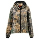 Waterproof/breathable2 zip handwarmer pockets3 panel hood with drawcords. Armpit zips for ventilation. Raglan sleeves200 gram Thermolite in body150 gram Thermolite in sleeves100% polyester microfleece. The SHE Outdoor C4 Camo Jacket for Ladies is a leap forward in female-friendly hunting apparel. Tailored to fit a woman's form, this waterproof, breathable jacket features 200 gram Thermolite insulation in body and 150 gram Thermolite in sleeves, with armpit zips for ventilation, 2 zip handwarmer pockets, and a 3-panel hood with drawcords. 100% polyester microfleece. Machine wash. Imported. - $199.99