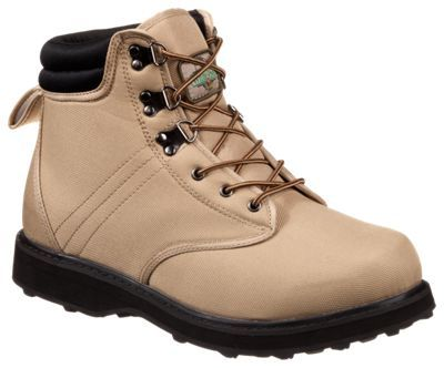 Enjoy a solid, stable base over uncertain fishing surfaces with the Felt Sole Wading Boots from White River Fly Shop. Durable 900 denier polyester uppers feature padded collars for improved fit and comfort and reinforced toe caps for extra protection. Extra wide last and midsole provides a stable base and solid ankle support. Modified Goodyear welt construction for great durability and stability. Lightweight, cushioning EVA midsoles. Onyx felt outsoles. Lace-up wading boots with brass speed hooks. Imported.Sure footing and stable support for slippery fishing spots. Durable 900 denier polyester uppers. Padded collars - improved fit and comfort. Reinforced toe caps. Extra wide last and midsole - stable base and ankle support. Modified Goodyear welt construction - durability and stability. Lightweight EVA midsoles. Onyx felt outsoles - $59.99