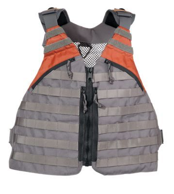 Our comfortable and versatile White River Fly Shop HEAT Tactical MOLLE-Style Fishing Vest borrows from the MOLLE system used in the military. MOLLE-style webbing allows you to locate components wherever you like. Choose from 6 different accessory pieces. (Some anglers will just go for 2 vertical pockets on the front and call it good.) There's even a zippered rear pocket with additional MOLLE attachment. Attachment points on the back are great for the optional components (sold separately). These components include a Roll-top Dry Bag, Water Bottle Holder, or Pockets for less-used storage. An available Holster will fit GLOCK, Beretta, and 1911 autos, or large frame revolvers. Imported.Select or add modular components as needed. Durable, reinforced MOLLE-style attachment straps Hook 'n' loop attachment points for fly patches. Adjustable, padded shoulder straps. Zippered rear pocket with additional MOLLE attachment White River Fly Shop Accessory Components sold separately and can be found through item search for number 2077084 - $79.99