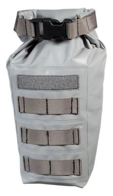 This White River Fly Shop Heat Tactical MOLLE-Style Roll-Top PVC Dry Bag keeps contents dry and is one of several components designed for use with our HEAT Tactical Fishing Vest (sold separately). Attachment points on this Dry Bag, together with MOLLE-style webbing on the Fishing Vest, allow you to locate this and other components wherever you like. Imported.Keeps contents dry. Size: 8.5 x 5 x 4Attachment points align with webbing on our HEAT Fishing Vest. Pouch may be attached to Vest in multiple locations. White River Fly Shop HEAT Tactical Fishing Vest sold separately and can be found through item search for number 2077085 - $29.99