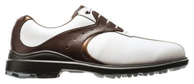 Get the look and feel of real leather with the easy care of synthetic in the Foot. Joy Green. Joys Traditional Golf Shoes. These affordable men's golf shoes are water-resistant with the dynamic 2-tone styling of traditional golf footwear. A lightweight cushioned fit-bed delivers extreme all-day comfort by supporting your heel and absorbing shock when you walk. And the Dura. Max rubber outsole delivers turf-gripping traction and durability. FJ Green. Joys Traditional Golf Shoes are built on the Austin last which has the fullest rounded toe and fullest fit across the forefoot, with a standard instep and heel. Imported. Strong on style and performance. Water-resistant synthetic leather is soft and easy-care. Super-plush cushioning and support. Lightweight fit-bed provides heel support and absorbs shock. Austin shoe last offers the fullest rounded toe and fullest fit across the forefoot, with a standard instep and heel. Dura. Max rubber outsole delivers superior turf grip. Manufacturer style #: 45351. - $59.99