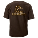 The Ducks Unlimited Logo T-Shirt gives guys who support bird hunting and waterfowl conservation another great option for casual wear. This short-sleeve tee features a small Ducks Unlimited logo on the left chest, plus a large version on the back. 100% cotton construction keeps things comfortable. Machine wash. Imported.Manufacturer style #: 160442.100% cotton. Waterfowl conservation theme. Left-chest logo. Full-back logo - $17.99