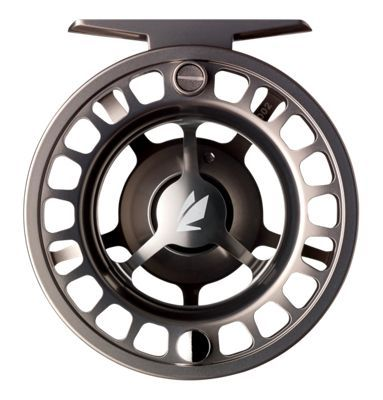 The fully machined Sage 3200 Series Fly Reel is smaller in diameter than the Sage 4200 series but is still a large-arbor design. The Sage 3200 features the same concave spool surface as the 4200 for optimal line capacity and drag-assisting smoothness. Lightweight and extremely durable, this reel is rich in features you'd ony expect on higher-priced reels. Other features include a large, easy-to-read drag knob, sealed carbon drag system, and neoprene case.Large-arbor design. Lightweight and durable. Fully machined. Feature rich - $199.00