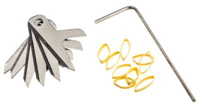 The Shwacker Broadhead Replacement Blade Kit includes 6 blades, 9 shrink bands, and Allen wrench. - $15.99
