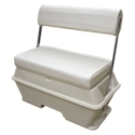 The Wise Deluxe Pontoon Series 70 Quart Swingback Cooler Seat features a double-wall insulated cooler with a recessed rubber gasket, plus a drain complete with rubber plug. Other features include anodized aluminum arms and a hinged seat cushion for storage. Made in USA.Manufacturer model #: WD156.Double-wall insulated cooler. Recessed rubber gasket. Anodized aluminum arms. Hinged seat cushion for storage. Overall height: 34.75Width: 32Depth: 18Seat Cushion: 3 Thick, 32 Wide, 18 Deep - $474.99