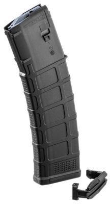 The Magpul PMAG 40 AR15 Magazine holds 40 rounds of 5.56 ammo (.223 Remington); and while the GEN M3 polymer magazine is optimized for Colt-spec AR15/M4 platforms, modified internal and external geometry also permits its operation with a range of additional weapons such as the HK 416/MR556A1/M27 IAR, British SA-80, FN SCAR MK 16/16S, and others. Magpul Magazines incorporate new technology in material and manufacturing for enhanced strength, durability, and reliability that exceeds rigorous military specifications. The PMAG 40 GEN M3 features a stainless steel spring, four-way anti-tilt shell follower, and constant-curve internal geometry for super reliable feeding, and simple disassembly for ease of cleaning. GEN M3, Magpul Magazines feature a redesigned bolt catch notch in the rear of the magazine to provide added bolt catch clearance, and an over-travel stop on the spine of the magazine ensures the magazine will not over-insert on compatible weapons. For position control while extracting and inserting magazines, Magpul provides an aggressive non-slip texture and a flared floorplate. The Magpul PMAG 40 GEN M3 AR15 Magazine is designed specifically to provide reliability when you need it most. Manufacturer model #: MAG233-BLK.Holds 40 rounds of 5.56 x 45 NATO ammo. Compatible with AR15 or many other weapons. Rugged polymer construction. Extra strong stainless steel spring4-way anti-tilt shell follower. Over-travel stop. Non-slip texture - $24.99