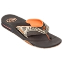 Comfortable, water-friendly performance sandal. Flexible, easy wearing, synthetic Nubuck upper. Contoured compression molded EVA footbed with anatomical arch support. Full 360? heel airbag enclosed in soft polyurethane. Reef icon herringbone rubber outsole with integrated church key bottle opener. Part of Reef's Mick Fanning signature line of sandals. A comfortable, water-friendly guy's performance sandal that is built for fun on the surf and sand, the Reef Fanning Prints Sandal for Men delivers water friendly comfort for the feet. Great for wearing around the water, the Fanning Prints' flexible, easy wearing, synthetic Nubuck upper offers giving comfort every time you slip these sandals on. Contoured, compression molded EVA footbeds feature anatomical arch support and Reef's full 360? heel airbag to give your feet great support and cushioning. The Icon Herringbone non-marking rubber outsoles delivers sure wet-dry traction over various surfaces and feature a built-in church key so you always have a bottle opener with you. Imported.Manufacturer style #: RF-002162. - $29.97