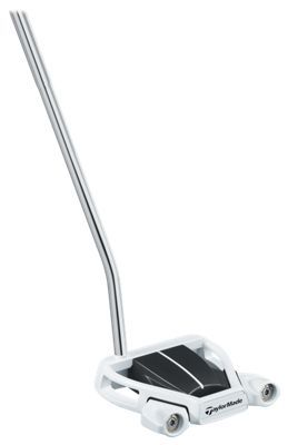 Thanks to extensive testing with Tour professionals, the Ghost Spider S is one of the most stable putters Taylor. Made has ever created. This aluminum-and-steel face-balanced flat stick features a revolutionary design that is easy to square and boasts the highest Moment of Inertia (MOI) measurement on any Taylor. Made mallet putter ever made. The unique design and exceptionally high MOI makes Ghost Spider S extremely stable on off-center hits, and it also makes it easier to control the head and square the face to the ball at impact. And a high contrast between the white leading edge and black crown allows you to focus your eyes on the topline, making it easier to aim. The Taylor. Made Ghost Spider S Putter golf club has a Pure. Roll Surlyn face insert for incredibly soft-yet-solid feel and smooth roll on the green. Manufacturer model #: N1515825.Extremely stable putter with highest MOI of any Taylor. Made mallet6,000 MOI makes it easy to square the face at impact to start the ball on your intended line. Exceptional twist resistance on backswing and off-center hits. Pure. Roll face insert promotes incredibly soft feel and smooth roll. Black/white frame and white center-line promote accurate aim. Winn Spider S grip - $179.99