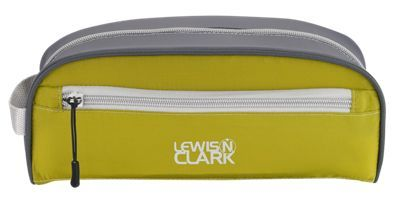 The Lewis N. Clark Feather. Light Toiletry Travel Bag measures 10inch x 4inch x 4.5inch and is constructed of rugged, rip-stop nylon to protect your toiletries from the elements. Feather. Light's lightweight, collapsible storage design is perfect for regular travel, camp and overnight stays. The Feather. Light Toiletry Bag includes a large, zippered main compartment and zippered side pocket for better organization.Manufacturer model #: 1832.Rugged, rip-stop nylon. Lightweight design. Collapsible storage. Zippered side pockets for organization - $15.99
