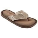 A breezy, comfy style that screams summer relaxation, the Monterey Thong Sandals from CREVO make a great summertime choice. Woven hemp uppers feature frayed edges to combine a relaxed, well-worn look with great durability. Soft linen linings provide smooth comfort against your foot. The Monterey Thong's pillow-soft textile-suede footbeds feature an extra layer of foam padded for superior cushioning and Agion antimicrobial treatments to resist odor-causing bacteria. The sandals' strong Strobel insole boards and rubber outsoles provide great flexibility and long-wearing durability. Imported. Manufacturer style #: CV1018-250.Breezy comfort with a relaxed, warm weather style. Woven hemp uppers with soft linen linings. Pillow-soft footbeds with an extra layer of foam padding for comfort. Agion antimicrobial footbed treatments - fight odors, resists bacterial growth. Strobel insole boards made of 70% recycled material. Flexible, non-slip rubber outsoles - $19.97