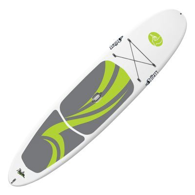Designed for use in flat water or light surf, the Rush 11.6 Stand Up Paddle Board from Pelican gives beginning-to-intermediate paddleboarders a great ride without breaking the bank. A great choice for enjoying waterways quietly, the Rush 11.6 surrounds a lightweight and durable foam core with a fade-resistant polyethylene outer shell for long life. A great way to exercise, paddleboarders will enjoy the Rush's padded, anti-slip deck pad and bow bungees for gear. Board also features a removable 10inch A10 fin for smooth tracking. Length: 11' 6inch. Weight: 45 lbs. Maximum weight capacity: 230 lbs.Manufacturer model #: FCD11P104.Healthy way to quietly enjoy natural waterways. Ideal for beginner to intermediate paddlers. Light, durable, watertight foam core. Fade-resistant polyethylene outer shell. Inset center handle. Padded anti-slip deck pad for comfort and secure footing. Removable 10inch A10 fin for better tracking. Bow bungees secure gear. Designed for use in flat water or light surf - $749.99