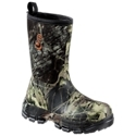 Giving women hunters rugged durability and protection against wet weather, SHE Outdoor Span. Tough? Waterproof Hunting Boots stand up to Mother Nature's worst. This easy-wearing rubber boot combines ultra-durable, yet flexible, Span. Tough uppers with printed rubber bottoms for extra protection from underbrush and other hunting hazards. Boot shaft is fleece lined. An ankle fit design, the Span. Tough locks your heel in place for a snug, comfortable fit. Fully lined with 5 mm neoprene for waterproof warmth, removable orthotic insoles and lightweight EVA midsoles deliver shock absorbing cushioning underfoot. Durable rubber outsoles provide long lasting traction for many hunts. Average height: 9. Average weight: 3.7 lbs. Imported.Ultra-durable waterproof protection for women hunters. Durable and waterproof Span. Tough? upper and rubber bottom. Fully lined with 5 mm neoprene 100% waterproof. Ankle fit design. Removable orthotic insoles. Lightweight, shock absorbing EVA midsoles. Long lasting rubber outsoles Mossy Oak Break-Up finish - $99.99