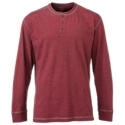 60% cotton/40% polyester. Triple-needle stitching. Rib-knit collar and cuffs3-button placket. Straight hem. Our Red. Head White River II Henley gives guys another great option for the cool times of the day. Made from 60% cotton/40% polyester for comfort and moderate moisture-wicking performance, this long-sleeve shirt also features triple-needle stitching for greater durability. Other notable details include a rib-knit collar and cuffs, a 3-button placket, and a straight hem. Machine wash. Imported. - $17.99