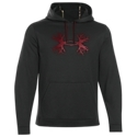 The Under Armour Storm Antler Hoodie isn't your average hooded sweatshirt. Made from 100% polyester Armour. Fleece performance fabric, this men's hoodie features a quick-drying, smooth outer layer with a UA Storm Durable Water Resistant finish that repels rain and snow for all-weather training. A soft inner layer traps heat to keep you warm, while the kangaroo pocket and deep hood offer extra protection from the elements. The Under Armour Storm Antler Hoodie is perfect for outdoor activities and features a large hunting-themed UA logo. Machine wash. Imported. Manufacturer style #: 1249746.100% polyester. UA Storm Durable Water Resistant finish. Armour. Fleece performance fabric. Kangaroo pocket. Drawstring hood. Antler logo - $59.99