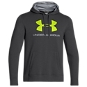 Look better and play harder in this Under Armour Sportstyle Hoodie for Men. The outer shell is made from 280 g cotton-blend fleece with a smooth outer face and soft inner liner to trap body heat. The Moisture Transport System guarantees superior active performance by driving rain or sweat to the surface where it can evaporate more quickly. The Under Armour Sportstyle Hoodie also has a kangaroo pocket and a drawstring hood for warmth and protection when you need it. 9.9 oz. 80% cotton/20% polyester. Machine wash. Imported. Manufacturer style #: 1248347.9.9 oz. 80% cotton/20% polyester280 g cotton-blend fleece with a smooth outer face and soft inner liner Moisture transport system. Kangaroo pocket. Drawstring hood. Large front logo - $49.99