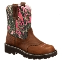 Enjoy great comfort and performance with a classic cowgirl look with the Ariat Fatbaby? Western Boots for Ladies. Attractively styled and designed for longwearing comfort, the Fatbaby features a full-grain leather foot with a pink camo suede leather shaft. A 4LR comfort and stability system provides superior comfort and stability on days filled with work and play. Built to last, the Fatbaby features long wearing Everlon EVA/blown rubber outsoles with 1-3/4 heel. Fatbaby toe. Saddle vamp. Average height: 8. Imported.Manufacturer style #: 10012827.High-performance western boot, classic cowgirl styling. Full-grain leather foot with suede leather upper. Saddle vamp4LR? technology - Four Layer Rebound system provides stability and comfort. Long lasting Everlon? EVA/blown rubber outsole with 1-3/4 heel. Fatbaby toe. NOTE: Not recommended by manufacturer for riding. - $94.99