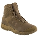 Tough and rugged tactical boot with great speed and manueverability. Lightweight synthetic leather and breathable nylon uppers with DWR treatments. Welded, abrasion resistant PU layer around foot perimeter - added durability. UA Clutch. Fit ankle support system for sure fit. Anti-microbial Ortholite sockliners. Ultralight Micro G midsoles - thin, lightweight, and responsive Reinforced TPU shanks - lightweight stability. Low profile rubber lug outsoles. Protective TPU toe wrap A blend of running shoe performance and rugged boot, the Valsetz Stealth Tactical Boots for men from Under Armour give superior performance for jobs that demand it. Designed with the UA Clutch. Fit ankle support system for sure fit, the Stealth's lightweight synthetic leather and breathable nylon uppers provide breathable support that does not weigh you down. DWR treatments on the uppers provide proven water resistance, while the welded, abrasion resistant PU layer around the foot's perimeter adds durability. Inside, Ortholite sockliners cushion on every stride and fight odor with anti-microbial technology. Full-length Micro G foam midsoles cushion landings and return energy on takeoff with a lightweight, thinner design that keeps feet in constant contact with ground. The Valsetz Stealth's durable, low profile rubber lug outsoles provide sure footing on varied terrains, while a protective TPU toe wrap protects your foot. Imported.Manufacturer style #: 1250234-220. - $119.99