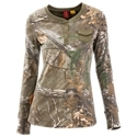 For layering when hunting or casual wear around the farm, the SHE Outdoor Pocket Henley Camo Shirt for Ladies' is a versatile piece of ladies' camo that you'll love. Built of a comfortable, easy-care cotton/poly blend, this camo shirt sports a placket with 5 buttons and a secure snap front pocket.60% cotton/40% polyester5-button styling. Snap front placket. Crew neck. Full length sleeves. Ribbed cuffs - $29.99