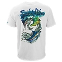 Stay cool and dry while fishing or boating in the Salt Life Grand Slam SLX Uvapor Pocket T-Shirt. Mega-soft, ultra-light, moisture-wicking, quick-drying, antimicrobial SLX Uvapor fabric provides UV 30 sun protection. This quick-reaction fabric provides a built-in cooling ventilation system to combat the heat. Other notable details on this Salt Life performance tee include a left-chest pocket and full-back graphics featuring a sailfish, a mahi mahi, and a marlin. 88% polyester/12% spandex. Machine wash. Imported.Manufacturer style #: SLM677.88% polyester/12% spandex. SLX Uvapor fabric. UV 30 sun protection. Moisture-wicking. Quick-drying. Antimicrobial. Left-chest pocket. Marlin back graphic - $33.00