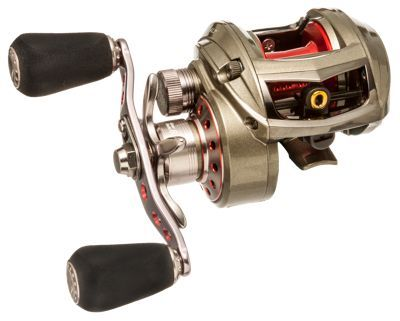 Abu Garcia's Revo ALT Baitcast Reels are designed for both fresh- and saltwater application and a wide range of finesse techniques. Abu Garcia's renowned IVCB-4 braking system provides precision casting control and distance while the solid brass main gear and Carbon Matrixdrag give these baitcast reels the power needed to handle the hardest fighting fish. The X-Cr?ftic alloy frame houses a 7 bearing system including 6 stainless steel HPCR bearings and a roller bearing, and the Infini II spool design spins effortlessly to add more distance.6 stainless steel HPCR bearings + 1 roller bearing. X-Cr?ftic alloy frame. Infini II spool design. C6 carbon sideplates. IVCB-4 centrifugal brake design. Flat EVA knobs. Ti coated line guide. Recessed reel foot6.2 oz6.4:1 gear ratio - $259.99