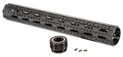 The ATI Free Float Forend Handguard provides shooters with an endless number of options for mounting AR-15 accessories to the front of their firearm. For ultimate versatility, each Free Float Handguard offers Picatinny rail placement options at 45? increments the entire circumference of the forend for a total of 8 sides (Picatinny rails not included). The 8-Sided, ATI Free Float Forend Handguard is constructed of military type III anodized, 6061 T6 aluminum, making it virtually indestructible. A slotted barrel nut, also constructed of military grade aluminum, and 3 set screws, provide a secure fit that cannot rotate, eliminate the need for a jam nut, and allow the handguard to be installed flush to the receiver. The ATI Free Float Forend Handguard allows you to attach AR-15 accessories exactly where you need them-a long-range telescopic sight can go on the top rail and a reflex sight onto the 45? rail making your weapon equally well suited for both long and short range tactical environments. ATI manufactures a full line of quality AR-15 accessories and tactical gear, and the Free Float Handguard holds up to their reputation. Fits most AR-15 variants. Does not fit AR-10 or .308 variants. Manufacturer's limited lifetime warranty. Made in USA.Note: Handguard requires a low profile gas block for installation.8 rail placement options at 45? increments. Provides shooters with an endless number of options for mounting AR-15 accessories. Made of military grade anodized aluminum. Slotted barrel nut provides a secure fit that cannot rotate. Handguard installs flush with the receiver. Fits most AR-15 variants - $69.99