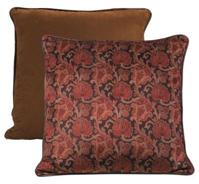 The Austin Collection Reversible Printed Velvet Euro Sham features a patterned velvet front, which reverses to rich chocolate microsuede. Made of 100% polyester, this handsome euro sham measures 27inch x 27inch and makes an elegant addition to your cabin or home. Dry clean recommended. Imported. Manufacturer style #: WS4068E1.Reversible printed velvet sham Reverses to chocolate microsuede. Faux leather piping. Makes an elegant addition to your living room 100% polyester. Measures 27inch x 27inch. Dry clean recommended. Shop the entire Austin Collection - $49.99