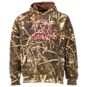 The thick, warm Ducks Unlimited Logo Camo Hoodie is made from 55% cotton/45% polyester for comfort and durability. It's an ideal choice for guys who enjoy waterfowl hunting and support wetlands conservation. Notable details include Realtree MAX-4 camo all over, a large front Ducks Unlimited logo, a kangaroo pouch, a brushed interior, and a jersey-lined hood. Machine wash. Imported. Manufacturer style #: 154451.55% cotton/45% polyester. Supports wetlands conservation. Realtree MAX-4 camo all over. Full-front DU logo and name. Kangaroo pouch. Soft brushed interior. Jersey-lined hood - $59.99