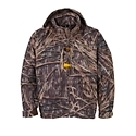 Be ready for opening day and whatever weather it might bring with the Drake Waterfowl Systems EST Heat Escape Waterproof Full Zip Jacket! This breathable jacket is cut from Drake's Refuge microfleece fabric with Hyper. Shield Technology for 100% breathable waterproof and windproof protection. Adjustable neoprene cuffs and taped seams offer additional protection out in the field. Full front zipper makes the full zip jacket easier to remove than pullovers. Special Heat Escape vents in the side of the jacket help keep you comfortable, offering up to 15 times more air exchange in exertion zones where your waders tend to inchsuffocateinch you. This jacket is tremendously functional for the hard core waterfowl hunter, thanks to Instinctive Features like the Magnetic chest call pouch, license and key pouch, and call separator. Machine wash. Imported.Early Season Technology. Magnattach Call Pocket. Vertical License/Key Pocket with zipper closure. Lower zippered hand pockets. Zip-off hood. Adjustable neoprene cuffs. Drawcord at waist100% Waterproof/Windproof/Breathable Refuge HS with Hyper. Shield Technology. Taped Seams. Heat-Escape Vents. EST (Early Season Technology) focuses on the major problem of hunting waterfowl on the first days of the season, staying dry and not over-heating. With features like Heat Escape Vents, 100 % waterproof protection, and materials that are 15 times more breathable where you need it most, EST wear from Drake are the coolest products on the market. So, when you run into an unseasonably warm day of hunting, EST will help keep you comfortable and concentrated on the birds. - $129.99