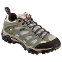 Enjoy lightweight support and performance wherever your outdoor adventures take you with the Merrell Moab Waterproof Multi-Sport Shoes for women. Waterproof/breathable mesh uppers feature a durable Dura leather overlay for great support and protection around your foot. Inside, a waterproof membrane delivers 100% waterproof protection while Aegis antimicrobial technology resists odor and helps keep feet fresh. Ortholite anatomical footbeds provide soft cushioning over the woman-specific support of the Merrell QFormcomfort midsoles. Molded nylon arch shanks and Merrell heel air cushions provide additional shock absorption and stability. Tough Vibram Multi-Sport TC5+ rubber outsoles features a deep 5 mm lug depth for aggressive traction over different terrains. Full bumper protection at the toe and around the heel. Average weight: 1 lb. 13 oz. Imported.Manufacturer style#: J88796.Lightweight and versatile trail shoes. Waterproof Dura leather and breathable mesh upper. Waterproof/breathable membrane. Aegis antimicrobial technology. Merrell QForm comfort midsoles - woman-specific support. Ortholite anatomical footbeds. Molded nylon arch shank. Heel air cushions. Deep 5mm lug Vibram Multi-Sport rubber outsole - $109.99