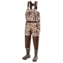 A great pair of waders for the entire duck season, Duck Commander Fly Zone Waders give hunters lightweight and breathable waterproof protection from extreme weather. Made of a 4-layer polyester fabric with waterproof membrane and mesh lining, this chest wader gives you waterproof protection that won't weigh you down and sweat you out. Ultra durable, reinforced knees and seat feature an extra layer of neoprene padding with a tough 900D nylon exterior. Featuring a generous cut for an improved, more comfortable fit, these waders also feature neoprene shoulder straps with adjustable hook 'n' loop closures for a perfect, custom fit. Interior hand-warmer pocket keeps your hands against the body to retain body heat. Waders also feature an interior zippered pocket with waterproof pouch and a chest pocket with water-resistant zipper. Ankle-fit boots feature removable insoles and EVA midsoles for comfort and 600g 3M Thinsulate Ultra insulation to fight off the cold. Rubber outsoles. Wader belt included. Imported.   Manufacturer style #: 530DC42302.Breathable waterproof protection for the whole season4-layer polyester fabric construction with waterproof membrane and mesh lining. Reinforced knees and seat. Generous cut for a more comfortable fit. Interior handwarmer pocket. Interior gear pocket with waterproof pouch. Zippered chest pocket. Ankle-fit boots with removable insoles600g 3M Thinsulate Ultra insulation in boots. Rubber outsoles. Wader belt included.Chest Wader Regular. Size891011121314Chest47inch47inch51inch51inch55inch59inch62inch. Waist47inch47inch51inch51inch55inch59inch62inch. Hips50inch50inch54inch54inch58inch62inch65inch. Thigh30.5inch30.5inch32.5inch32.5inch34.5inch36.5inch37.5inch. Inseam35.25inch36.25inch36.25inch37.25inch37.25inch37.25inch38.25inch - $289.99