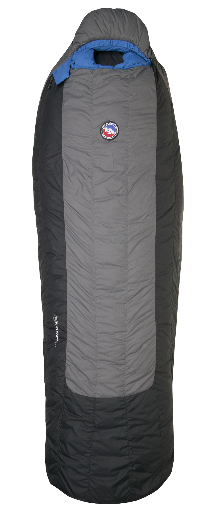 "Camp and Hike Key Features of the Big Agnes Fish Hawk 30 Regular Left Sleeping Bag: Rated to 30 degrees Integrated full pad sleeve. Never roll off your pad again Rectangular shape offers more room in foot box and shoulders Cotton storage sack & nylon stuff sack included Built in pillow pocket holds a fleece or Big Agnes pillow Interior fabric loops for sleeping bag liners 70"" YKK #8 zipper. Mate together our left and right zip bags with same size zipper No-draft collar seals around neck to keep cold air from sneaking in No-draft wedge insulates the connection between the bag and pad No-draft zipper tube insulates along the length of the zipper Shell fabric: Down proof, nylon microfiber rip-stop. WR surface treatment to repel water Lining: Soft, breathable down proof nylon with stain resistant finish Pad sleeve: Nylon rip-stop. WR surface treatment to repel water Cotton storage sack & nylon stuff sack included Flow Construction: Insotect Flow is a flow-optimized insulation system that delivers uniform heat distribution and natural body contouring through its revolutionary baffle design. Flow Construction eliminates lateral and vertical down shifting by using vertical chambers with Flow Gates to regulate fill positioning and density. Strategically placed Flow Gates minimize vertical down shifting while vertical chambers minimize lateral shifting. With continuous vertical Flow chambers in place of traditional side seams, Flow bags eliminate potential cold spots which can occur with side seams. Vertical baffles now flow with your body for more rapid and uniform body heat distribution. LEFT OR RIGHT ZIPPER? When you are in the bag, on your back, the right zip will be on your right side, left zip on your left side Pad Size 20""x72"" Fill Type 650 fill goose down Fill Weight 11oz Bag Weight 2lb 10oz Shoulder Girth 70"" Hip Girth 66"" Foot Girth 54"" Stuff Sack Size M-8""x17.5"" Compressed Bag Size 8""x6"" - $138.95"