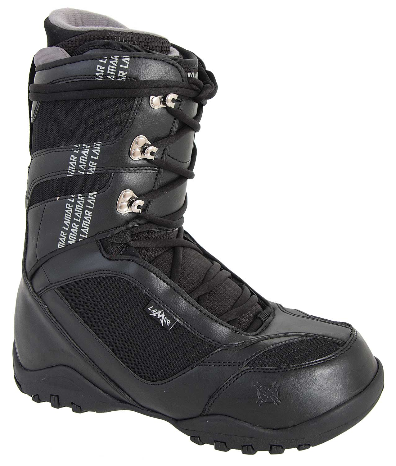Snowboard Showcasing the state of the art in snowboard boot design, the Lamar Justice 2 Snowboard Boots Black are designed with micro-injected pull-tabs in the tongue gusset, as well as soft-touch lacing for convenience. Designed with both comfort and performance in mind, these boots will keep you dry and warm on the slopes. The durability of these boots cannot be beat, and when you buy Lamar Justice boots, you can rest assured that you are getting comfortable, effective snowboard boots proven to maximize performance and comfort.Key Features of The Lamar Justice Snowboard Boots: PL Articulated Lace Up Liner with EVA Footbed Low Profile Dual Density Outsole Soft Touch Lacing Tongue Gusset with Micro Injected Pull Tab Flex Zone Tongue Upgraded Materials - $59.95