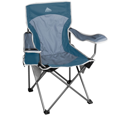 Camp and Hike Place your keister in the Kelty Essential Chair and the expensive water in the beverage holder after a tough day of work or playing outside. The adjustable arms let you rest your tired limbs and to open up your refreshing beverage use the Kelty bottle opener. The side mesh pockets and seat-back pocket hold your snacks, climbing porn mags, or headlamp, so you never have to get up unless Mother Nature calls. When youre ready to call it a day, simply collapse the chair and stow the Essential away in the deluxe carry sack. - $39.96