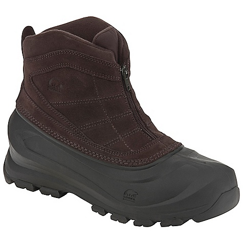 Free Shipping. Sorel Men's Cold Mountain Zip Boot DECENT FEATURES of the Sorel Men's Cold Mountain Zip Boot Water resistant suede leather upper Front zip with functional gore panel 200g Thinsulate Insulation Removable molded EVA comfort foot bed Injection molded waterproof thermal rubber shell Traction enhancing multi-directional lug outsole The SPECS Weight: 24 oz / 680 g Shaft Height: 6.5in. / 16.5 cm - $74.95