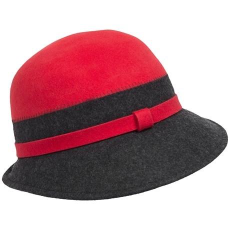ba11eab983f Callanan Two-Tone Cloche Hat - Wool Felt (For Women) -  1... - Thrill On